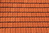 foto of red roof tile  - red roof tiles useful as a background - JPG