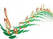 Music element colorful design - vector illustration