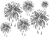 Fogos de artifício vector illustration