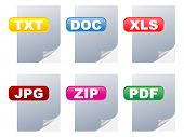Different files type image illustration