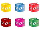 Extension of .xls files vector illustration