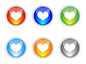 Casino elements heart vector illustration