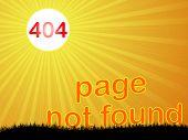 Ilustración de vector de error 404