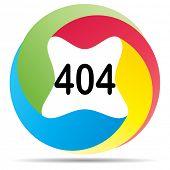 (raster image of vector) 404 error button