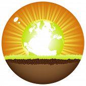 sunshine ball with earth