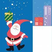 Greeting card with Santa Claus