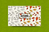 Autumn Leaf Seamless Pattern. Fall Leaves Texture. Seasonal Web Banner Template With Leaf Pattern. F poster