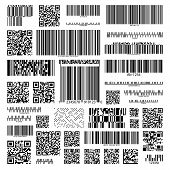 Barcodes Set On Isolated Background For Information, Product Tracking And Marketing, Hyperlinks. Cod poster