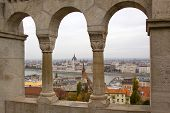 View of hungarian parliament building from fisherman bastion