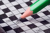 green pencil write crossword