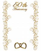 foto of 50th  - 3D Illustrated design for 50th wedding Anniversary card or invitation - JPG