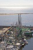 Shrimp Boats And Harbor Construction
