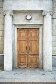 old door in history building