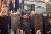New York City Manhattan Street Aerial View With Skyscrapers. Skyscrapers New York. Skyscrapers Aeria poster
