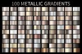 Metallic, Bronze, Silver, Gold, Chrome Metal Foil Texture Gradient poster