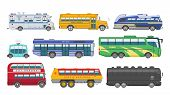 Bus Vector Public Transport Tour Or City Vehicle Transporting Passengers Schoolbus Police And Transp poster