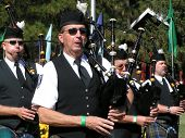 Bagpipers at the Celtic Festival in Grass Valley, California, 2005