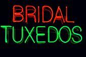 Bridal Tuxedos neon sign