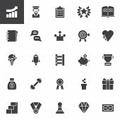 Motivation Vector Icons Set, Modern Solid Symbol Collection, Filled Style Pictogram Pack. Signs, Log poster