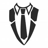 Shirt Necktie Icon. Simple Illustration Of Shirt Necktie Icon For Web Design Isolated On White Backg poster