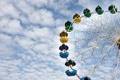 ferris wheel on sky background