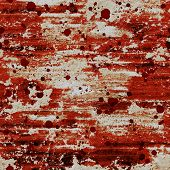 Bloody Blood Red Grunge Background. Watercolor Aged Wood Abstract Seamless Pattern With Red Blood Bl poster