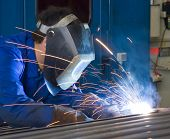 stock photo of retarded  - A welder - JPG