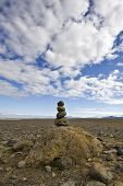 A Varda is an Icelandic custom and an omen for a safe onward journey. For some, it represents Zen, for others, the stack of stone is merely a road side marker