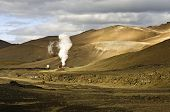 Part of the 60MW geothermal power plant in the Volcanic Krafla system, generating electricity from the natural earth energy