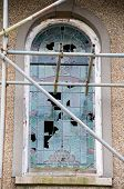 Broken And Stained Glass Window