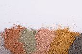 Textural Gradient From Different Cosmetic Clay Mud Powders poster