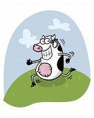 cow running