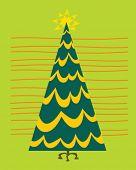 retro style christmas tree
