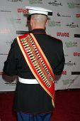 LOS ANGELES - NOV 27:  Gunnery Sergeant Devon Van arrives at the 2011 Hollywood Christmas Parade at Hollywood Boulevard at Sycamore on November 27, 2011 in Los Angeles, CA