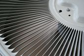 Different view of an air conditioner fan