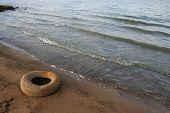Litter on the beach
