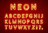 Neon Font Text. Neon Font Eps. Lamp Font. Alphabet Font poster