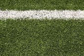 Artificial Turf of a Football Field Close up with copy space