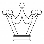 Princess Crown Icon. Outline Illustration Of Princess Crown Icon For Web poster