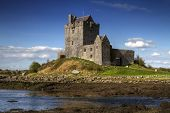 Dunguaire castle with blue sky