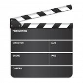 stock photo of clapper board  - Movie clapper board - JPG