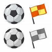 Vector Illustration Of Soccer And Gear Sign. Collection Of Soccer And Tournament Stock Vector Illust poster