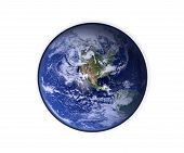 Earth On Isolated