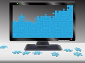 Computer Or Hdtv Monitor Jigsaw Puzzle