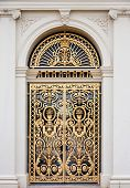 Golden ornate door