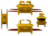 stock photo of tabernacle  - Set of 4 Arks of the Covenant from the Bible - JPG