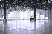 empty room of modern warehouse
