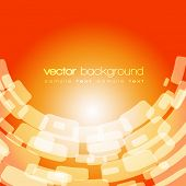 Vector warped square on the orange background with text