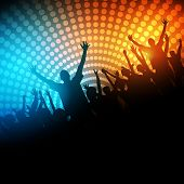 stock photo of rave  - EPS10 Party People Vector Background  - JPG