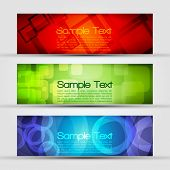 EPS10 Set of Three Header Vector Design